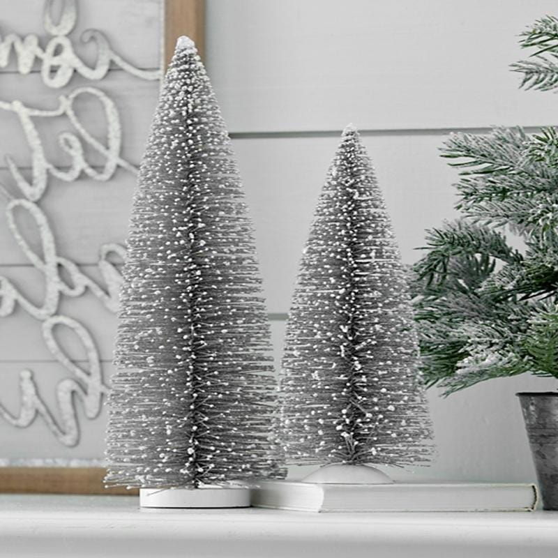 Frosty Bristle Christmas Tree