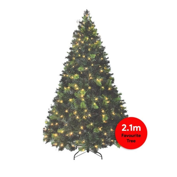 JUST ARRIVED: Pre-Lit LED Deluxe Royal Pine Christmas Tree - 2.1m tall