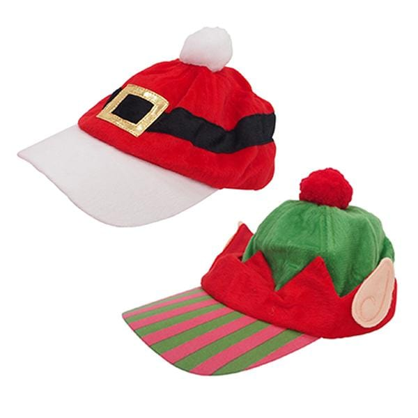 Adult Baseball Christmas Cap: Santa Belt or Elf