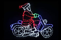 Back in Stock: LED Ropelight Motorbike Santa