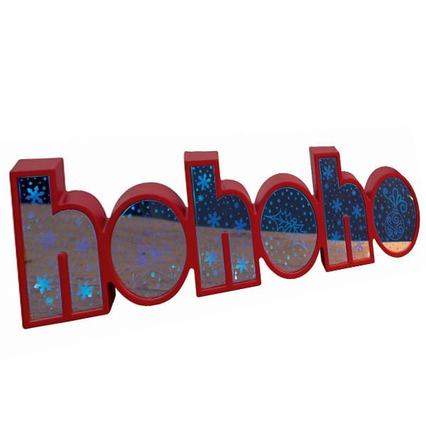 LED Mirror Holographic HOHOHO Shelf Sign
