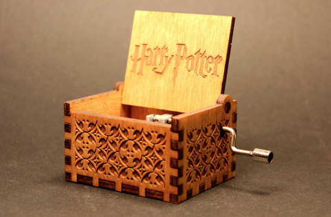 HP Hand-Engraved Wooden Music Box