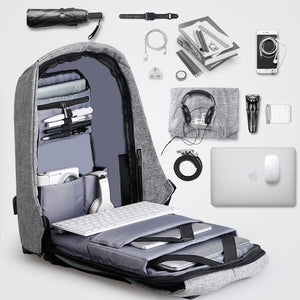 Anti Theft Backpack w/ USB Charger