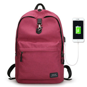 Casual Backpack w/ USB Charger