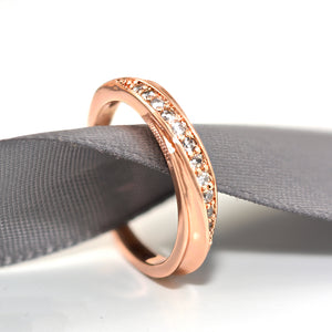 Classic Ripple Rose Gold Ring