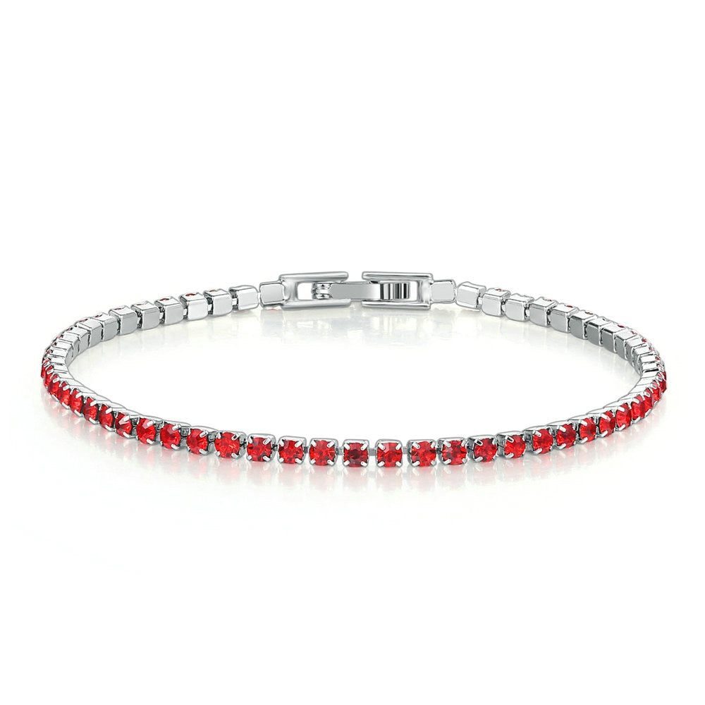 2.5mm White Gold Bracelet