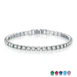 3.5mm White Gold Bracelet