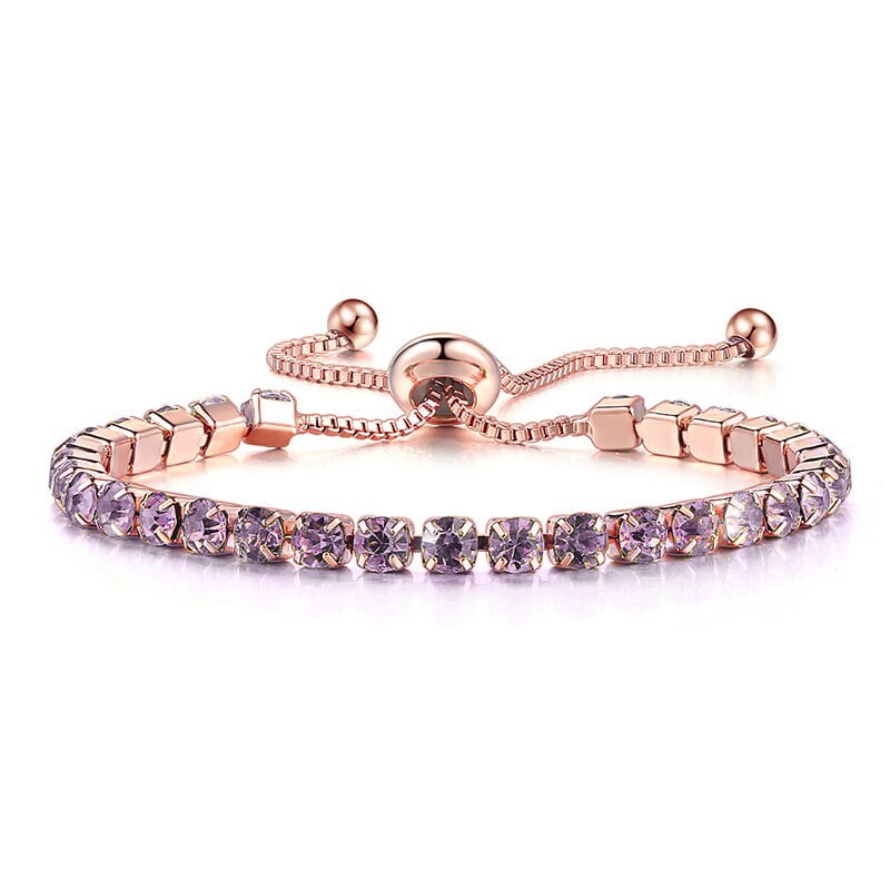 Alexandrite Purple Adjustable Bracelet