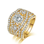 Radiant Gold Luxury Ring Set