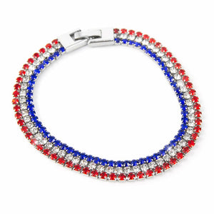 USA Red White and Blue Bracelet