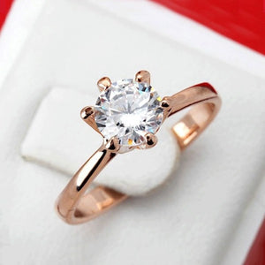 Luxury Rose Gold Solitaire Ring