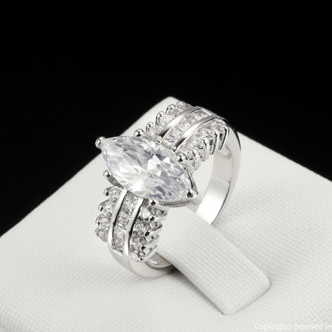 Luxury Marquis Cut Ring