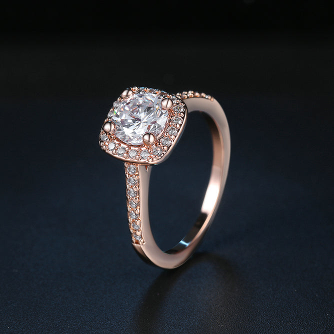 Rose Gold Halo Ring