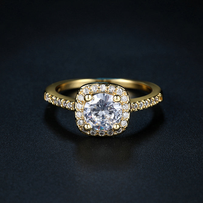 Gold Princess Halo Ring