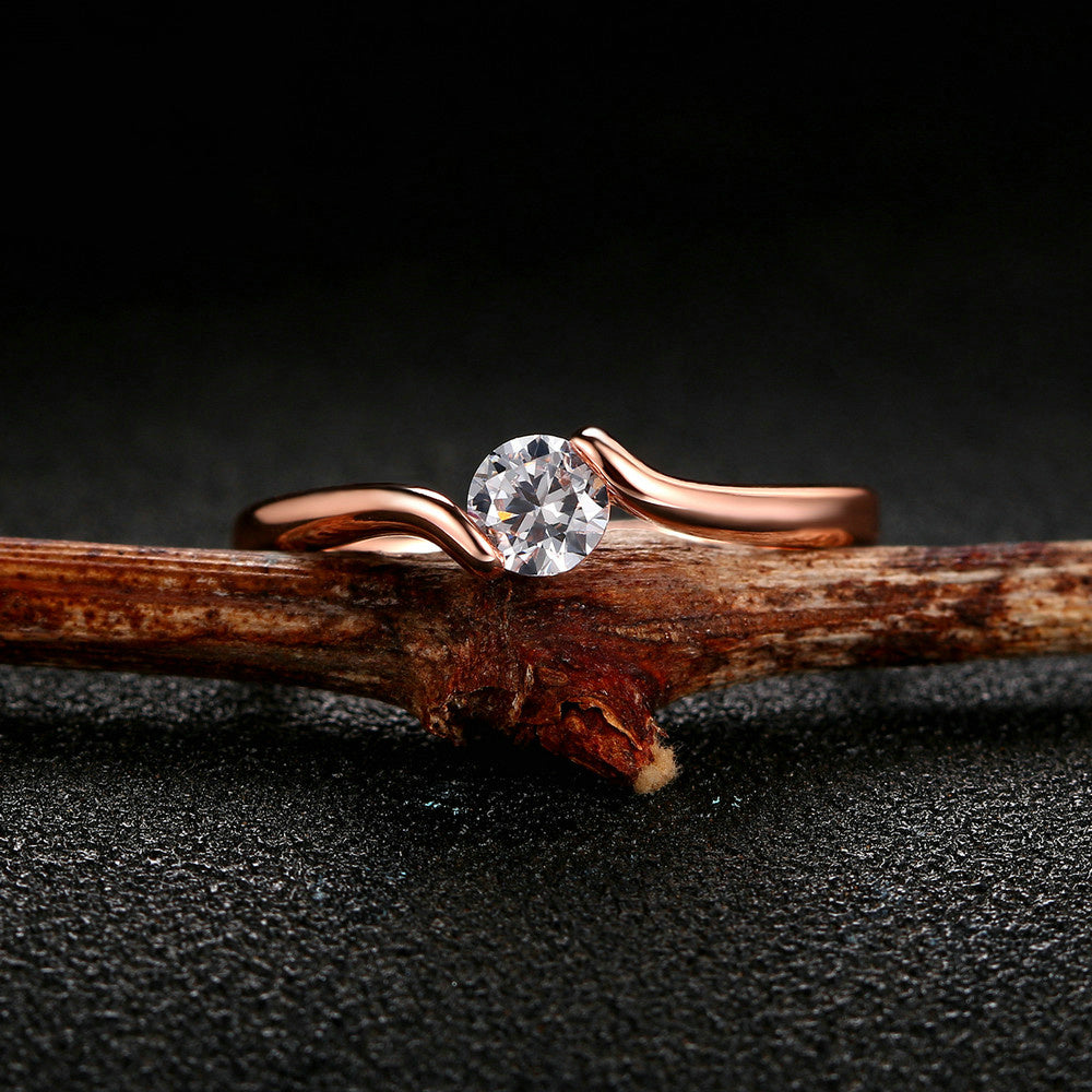 Beautiful Luxury Rose Gold Ring
