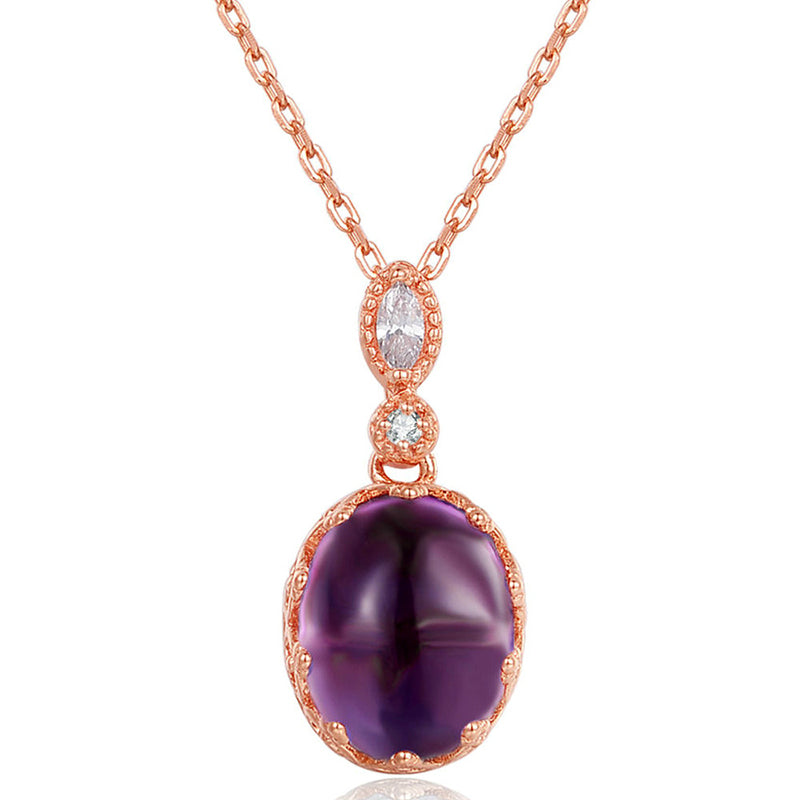 Queen Oval Amethyst Necklace