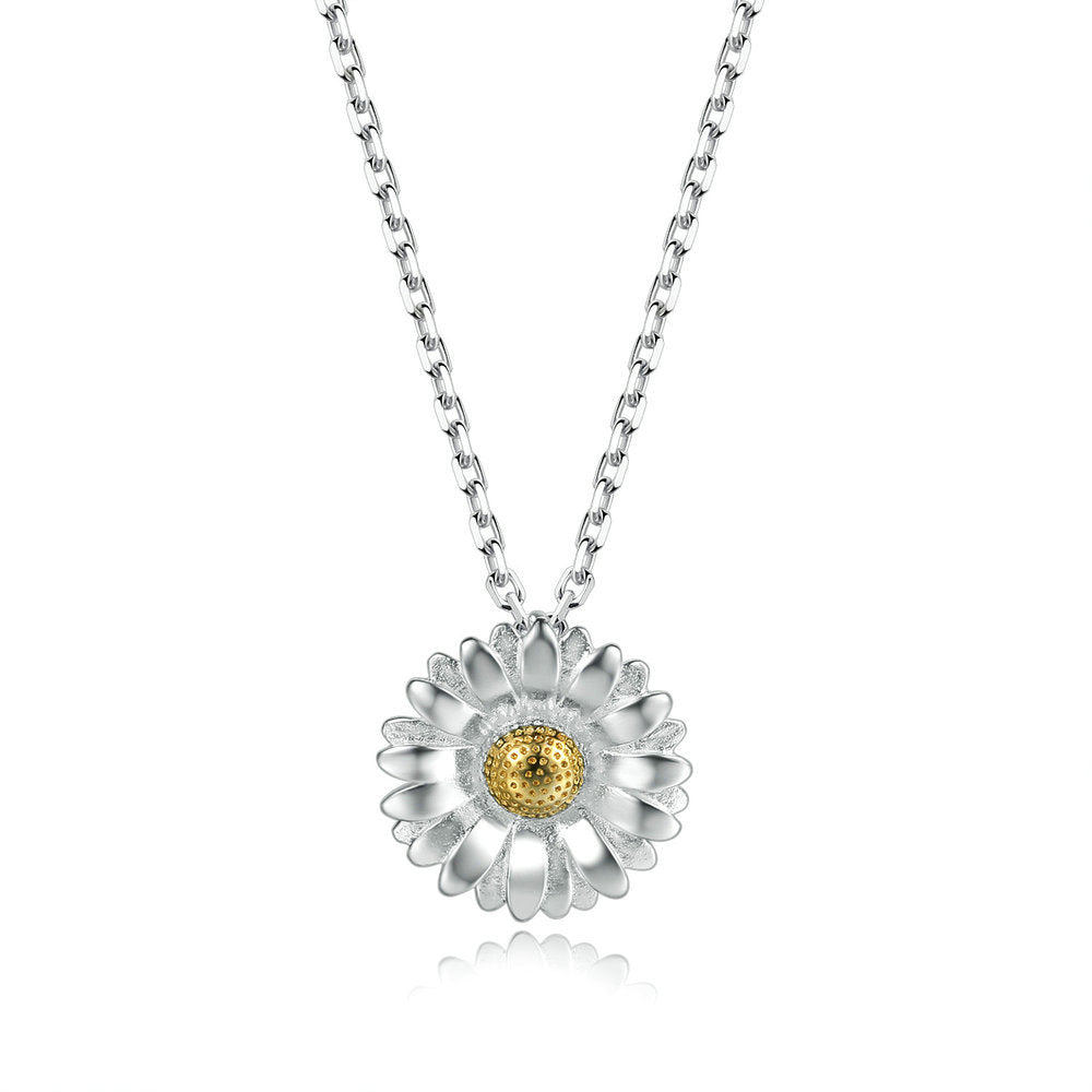 Sterling Sunflower Necklace