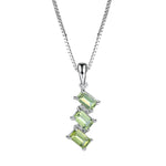 Triple Natural Peridot Necklace