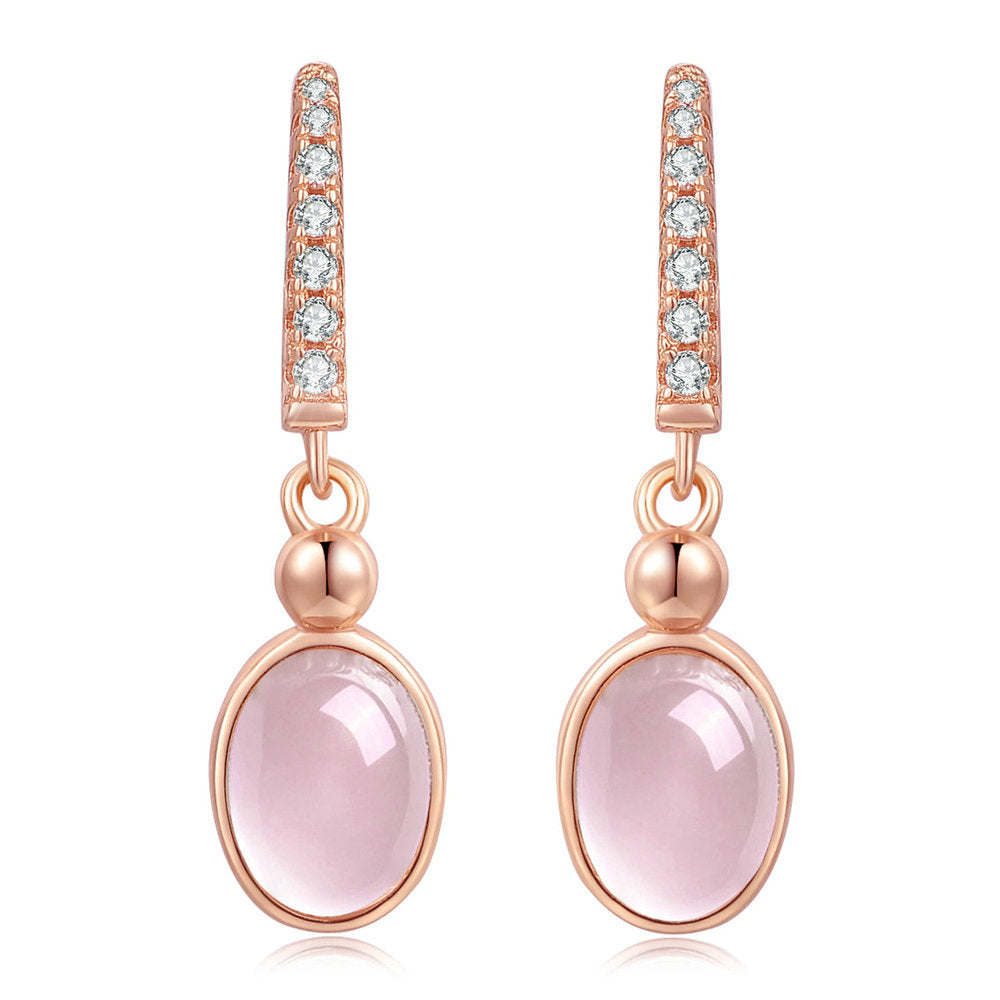 Classic Rose Quartz Earrings