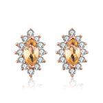 Horse Eye Citrine Earrings
