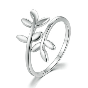 classic wrapped leaf ring love quotes apparel Leaf Cluster classic wrapped leaf ring