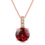 Classic Round Garnet Necklace
