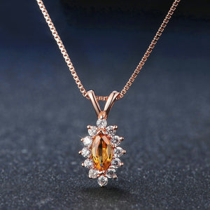 Horse Eye Citrine Necklace
