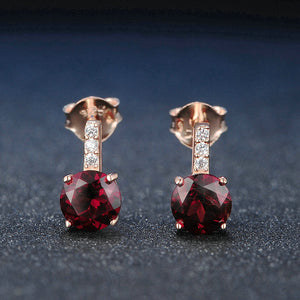 Classic Garnet Drop Earrings