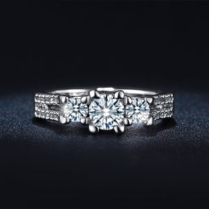 Elegant Triple Stone Ring