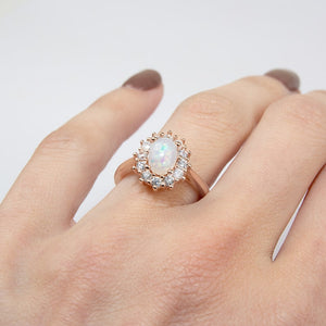 Rose Gold Opal Ring