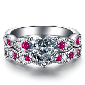 Luxury Heart Ring Set