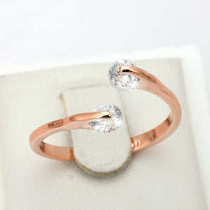 Double Rose Gold Split Ring