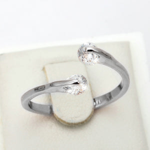Double Platinum Split Ring