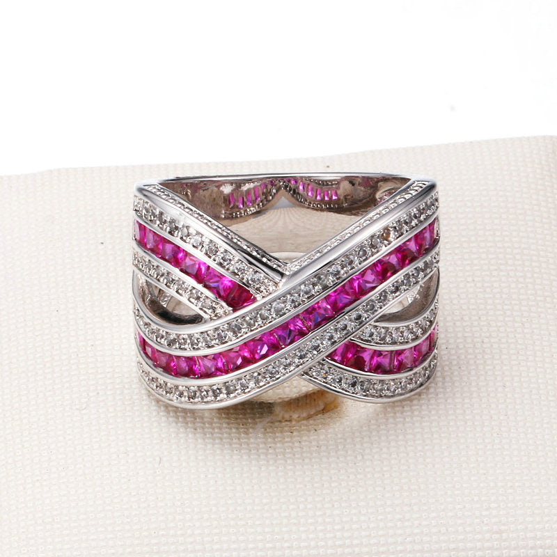 Luxury Pink Cocktail Ring