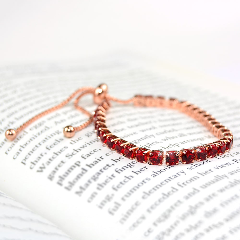 Ruby Red Adjustable Bracelet
