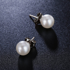 Classic Silver Pearl Earrings