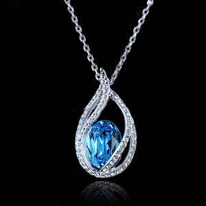 Blue Topaz Oceanic Necklace