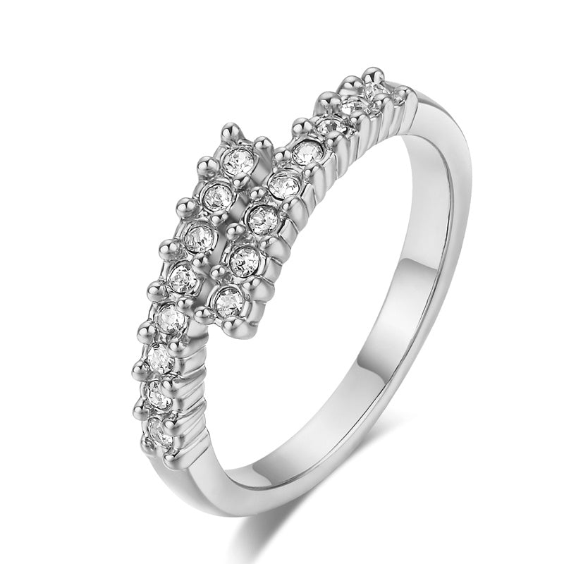 Wrapped Pave Ring
