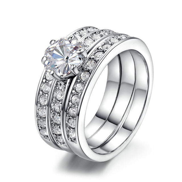 Triple Silver Luxury Ring