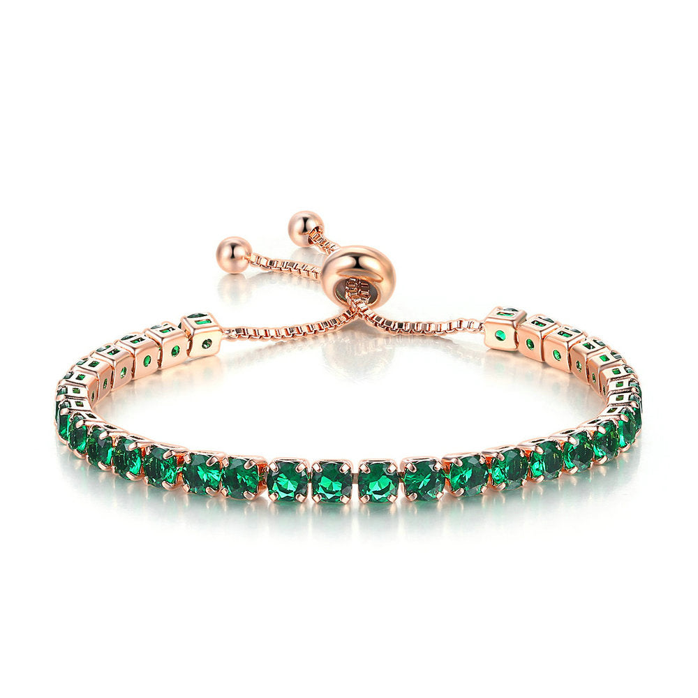 Emerald Green Adjustable Bracelet