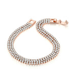 Triple 2mm Rose Gold Bracelet