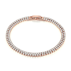 Double 2mm Rose Gold Bracelet