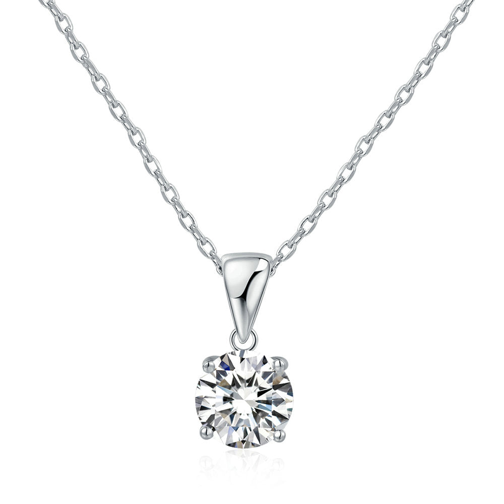 Classic Round Cut Pendant Necklace