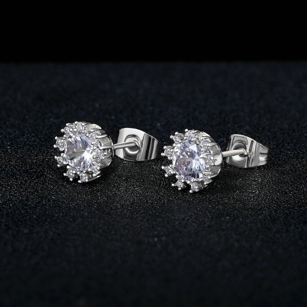 Radiant Platinum Earrings