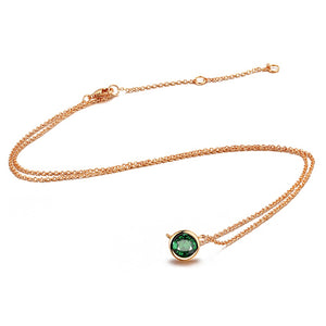 Modern Emerald Green Necklace
