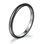 Smooth Titanium Black Gold Band