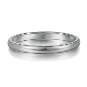 Smooth Titanium Silver Band