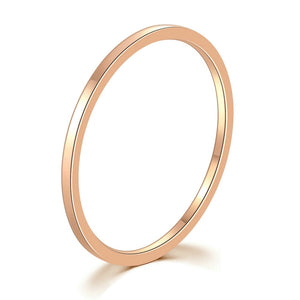 Simple Titanium Rose Gold Band