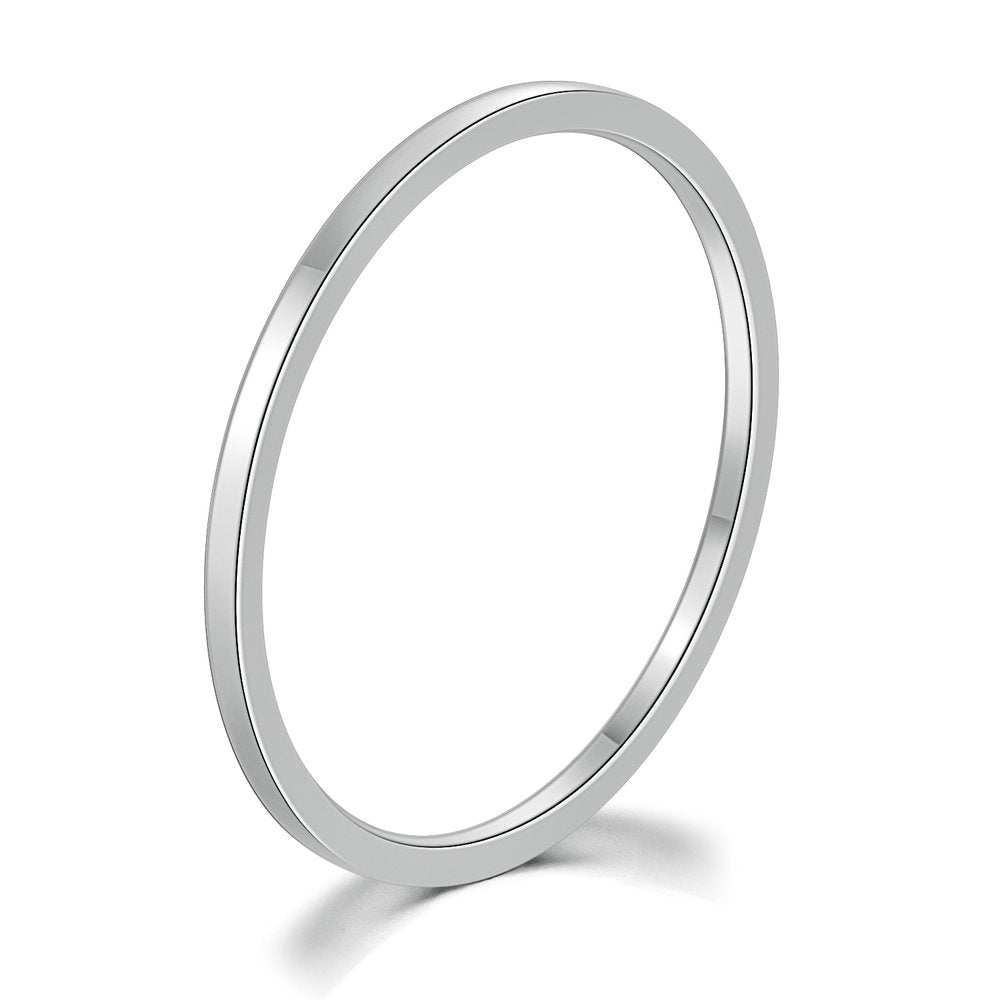 Simple Titanium Silver Band