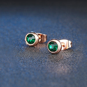 Modern Emerald Green Earrings